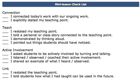 mini lesson template search results for calkins lesson plan template