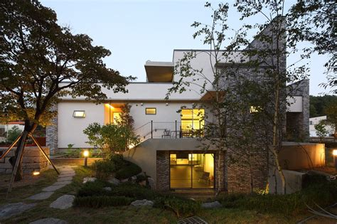 modern home design korea contemporary quot p house quot in south korea embedded in a