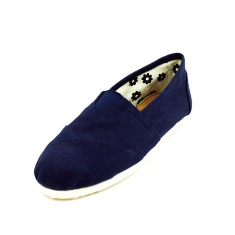 navy blue flats shoes navy blue canvas flats womens shoes