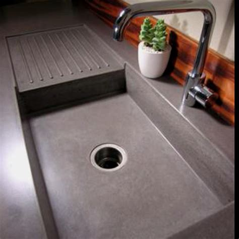Kitchen Countertop With Built In Sink by 17 Best Images About Concrete Counter Tops On