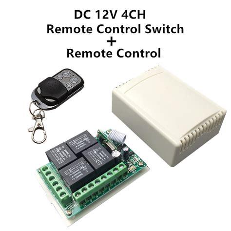 Universal Wireless Transmitter Receiver Remote Pagar Garasi 433mhz universal wireless remote switch dc12v 4ch