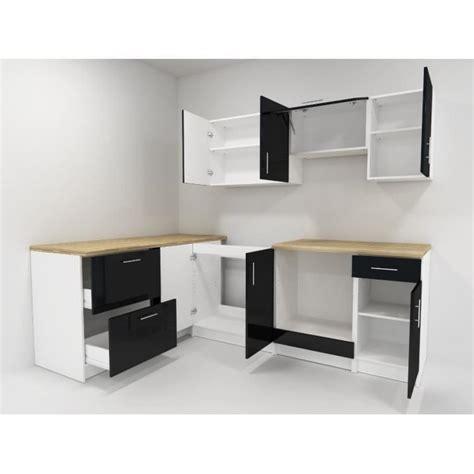cosy cuisine compl 232 te 2m80 laqu 233 noir achat vente cuisine complete pas cher couleur et