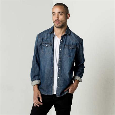 Button Denim Shirt by Mens Snap Button Denim Shirt In Vintage 75 Dstld