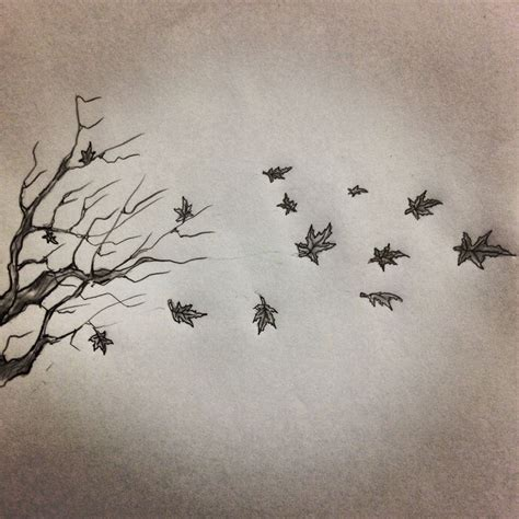 fall tattoo sketch by ranz pinterest trees fall