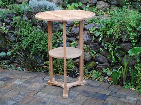 Table Paradise Ca by Bar Table With Shelf Paradise Teak
