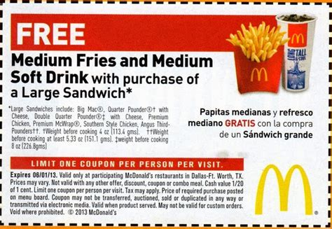 mcdonalds printable vouchers uk 2015 online mcdonalds coupons online printable 2017 2018