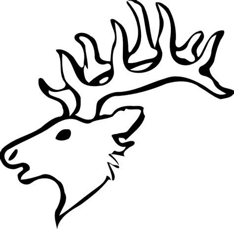 deer head deer head outline clip art at clker com vector clip art