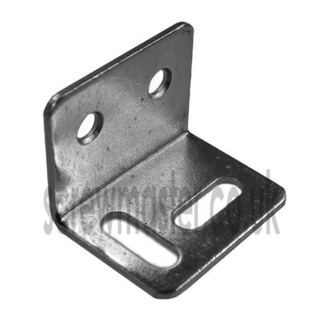 Murah Steel Angle Bracket 25mm stretcher plate angle bracket 32mm x 25mm x 25mm x 1 2mm thick bzp steel