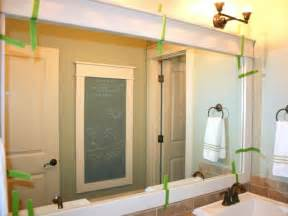 Framing Bathroom Mirror Ideas How To Frame A Mirror Hgtv