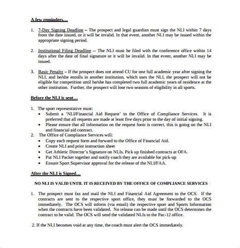 National Service Deferment Letter Sle Ncaa Letter Of Intent 36 Images Ncaa Eligibility National Letter Of Intent Sle Templates