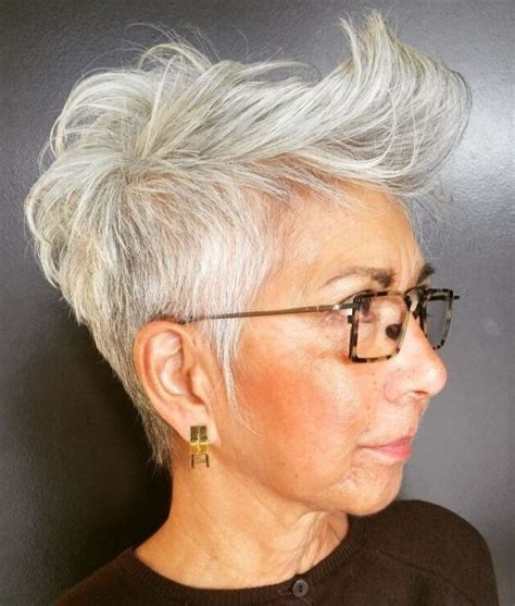 tapered gray bob with bangs 60 gorgeous hairstyles for gray hair