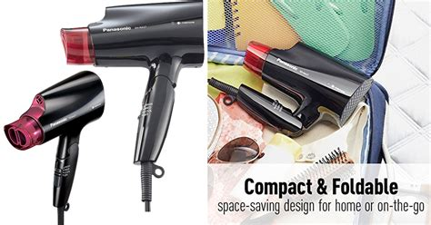 Panasonic Mini Hair Dryer panasonic compact hair dryer with folding handle