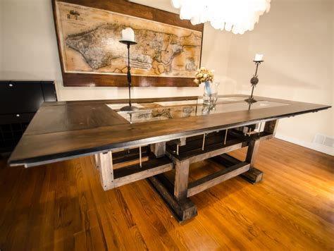 hand  custom industrial contemporary eclectic dining