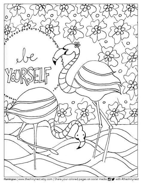flamingo printable coloring pages
