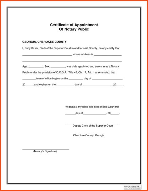 stunning notary signature template pictures inspiration