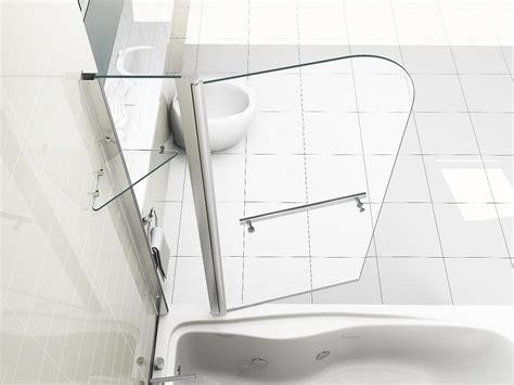 Folding Shower Screens For Baths 6mm duschwand glas mit regal ebay