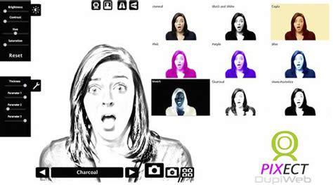 efectos para cam pixect agregar efectos a fotos online desde la webcam