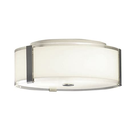 lowes kitchen light shop allen roth 13 87 in w chrome standard flush mount