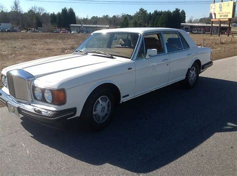 bentley mulsanne white interior find used 1989 bentley mulsanne s white with brown