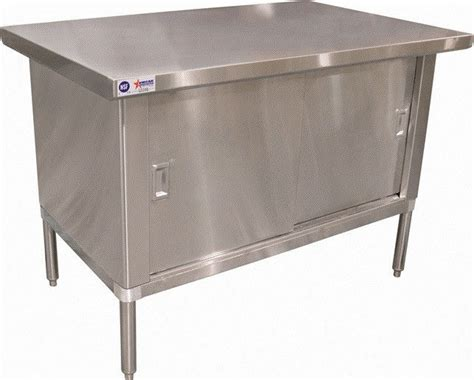 metal work cabinets new 30 x 48 commercial stainless steel work prep table with cabinet ebay