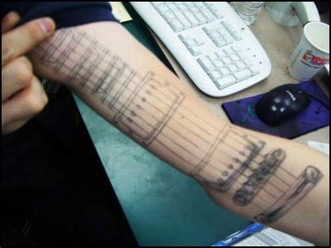 your tattoo chords so your arm is your other guitar guitar fail