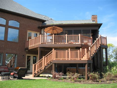 deck with walkout basement designs home a rama house 2 environmentally friendly tudor