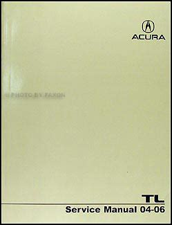 service manual old car manuals online 2006 acura rl lane departure warning service manual 2004 2006 acura tl repair shop manual original