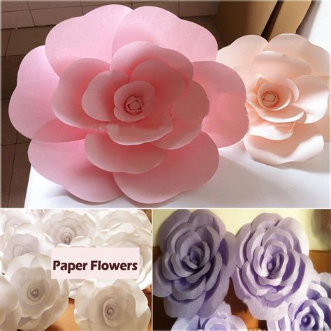 imagenes de flores grandes de papel compra decoraciones grandes de la boda online al por mayor