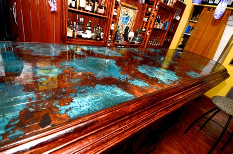 cool bar tops wooden azul bar top