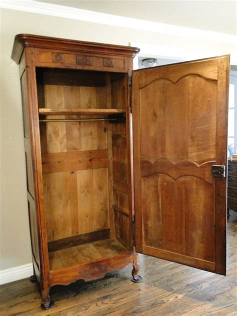 One Door Wardrobe Closet Antique Country Armoire Wardrobe Closet Provincial