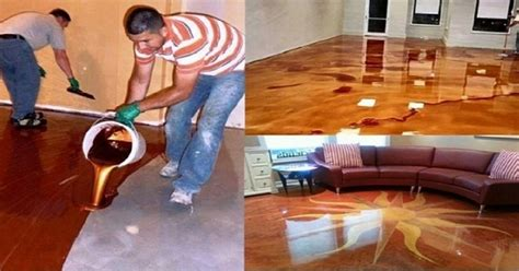 Faux Painting Stone - diy concrete flooring makeover
