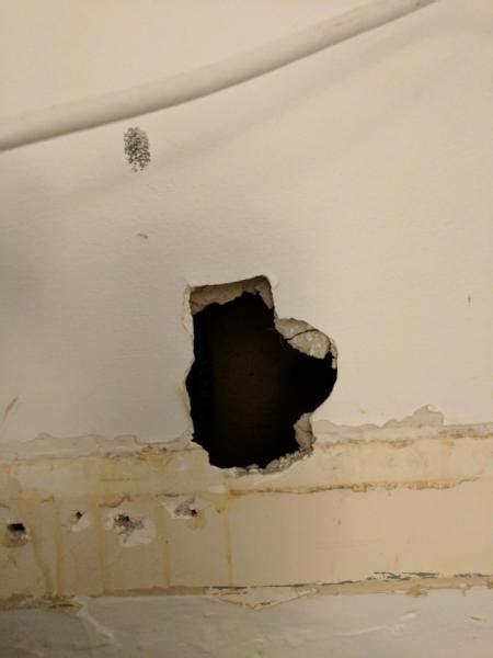damaged drywall   fix   compound