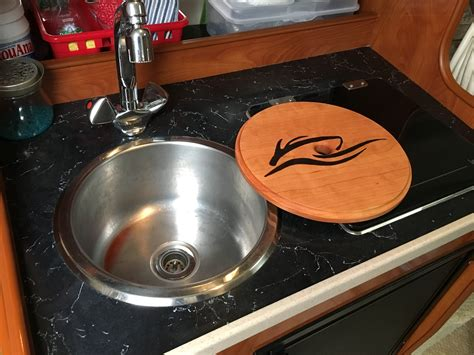 sink cover cutting board reversible sink cover and cutting board rinker boats