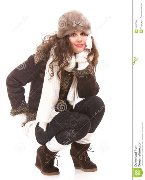 woman in winter clothing woman in warm clothing winter fashion stock photo image