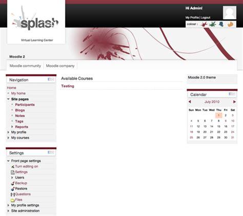 Moodle Theme Splash | moodle plugins directory splash
