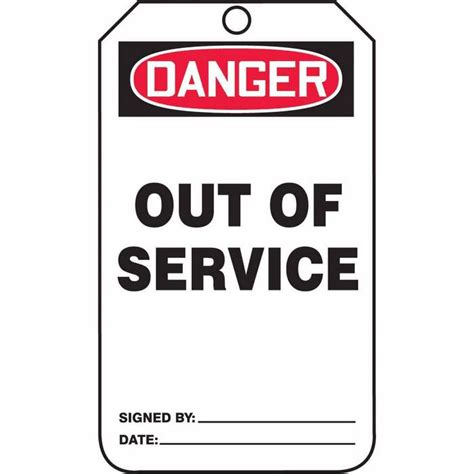service tags tag danger out of service back a 5 7 8 x 3 1 8 pf cardstock from cole parmer