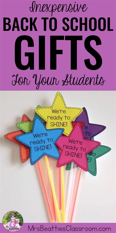 ideas from to student inexpensive back to school gifts for your students mrs