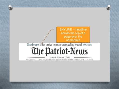 layout newspaper definition journalism ii definitions