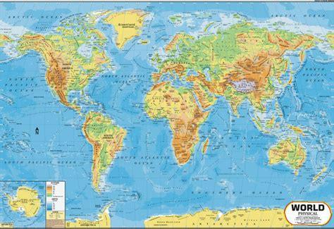 printable hd world map خريطة العالم المادي الخريطة معرف المنتج 50001481949 arabic