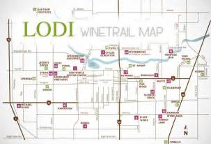 map lodi california lodi ca wine trail map vineyards