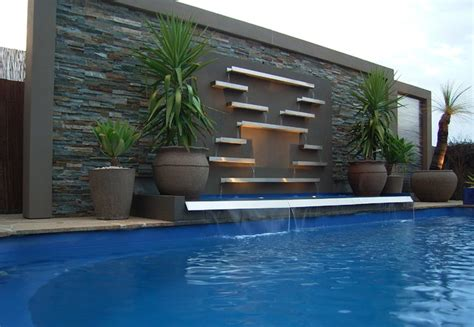 Ideas For Shelves In Kitchen pool water features contemporary pool melbourne by