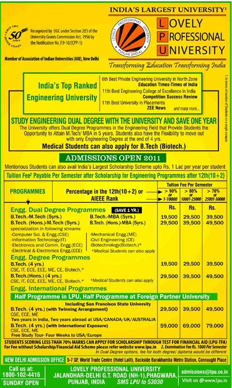 Lpu Mba Admission Last Date by Honestadmission Lovely Professional