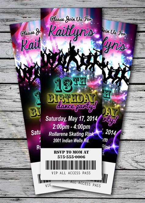 printable dance tickets dance party ticket invitations www pixshark com images