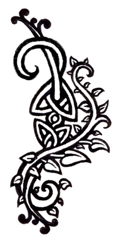 celtic vines tattoo design by domobraden on deviantart