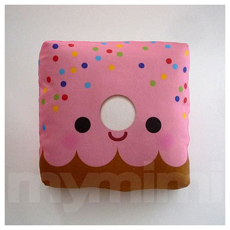 decorative pillow donut pillow pink donut rainbow