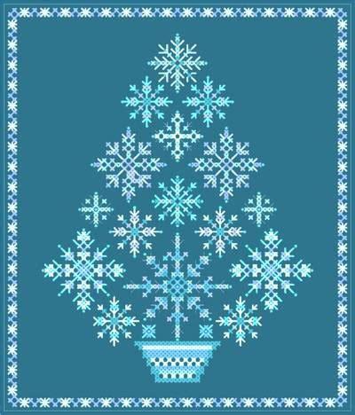 snowflake pattern cross stitch snowflake tree cross stitch stitch and pattern design
