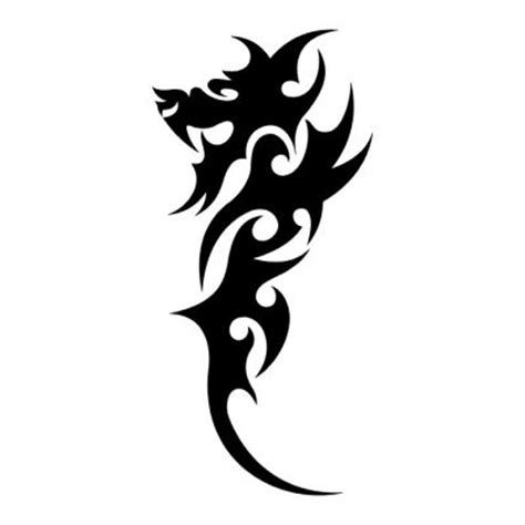 simple asian tattoo design 32 simple tribal dragon tattoos