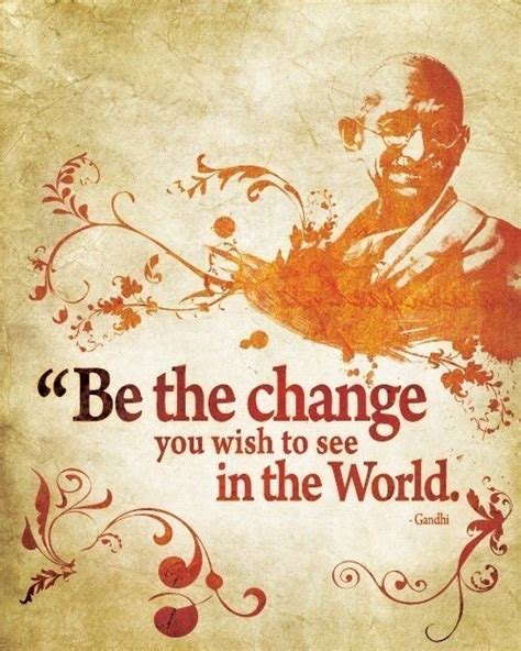 printable gandhi quotes be the change quote from gandhi 8x10 art print