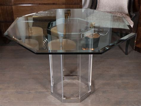 octagon dining room table luxe mid century modernist octagonal dining table in