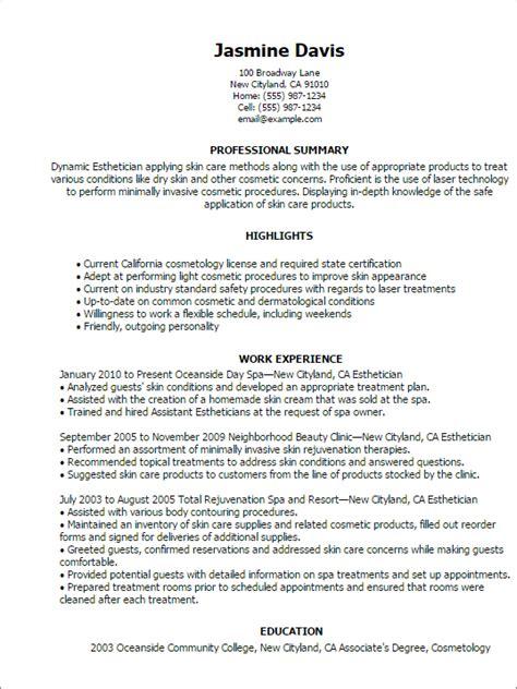 esthetician medical esthetician resume by jasmine davis
